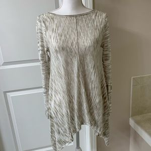 Knox Rose top marled neutral taupe color.